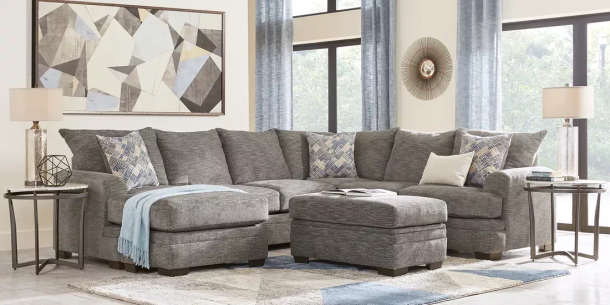 Sofa Sectional Rooms to Go Copley Court Pewter